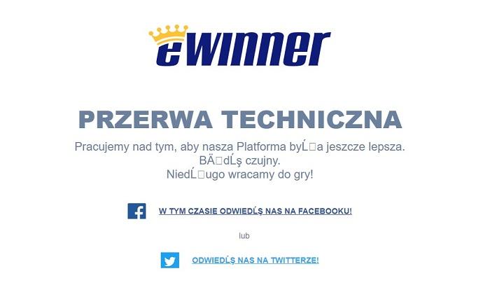 Przerwa techniczna w eWinner