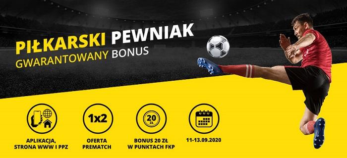Piłkarski pewniak – gwarantowany bonus