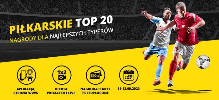 Piłkarskie TOP 20 w Fortunie