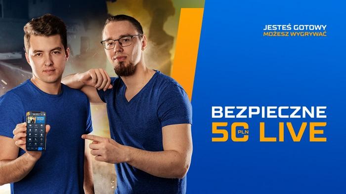 Bezpieczne 50 PLN LIVE na eSport