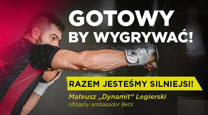 """Mateusz """"Dynamit"""" Legierski został oficjalnym ambasadorem BetX"""
