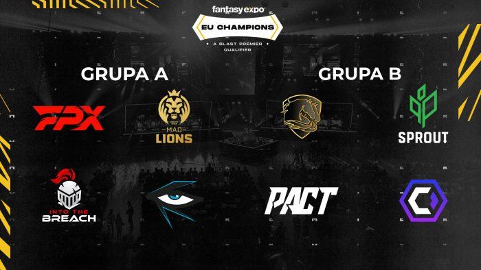 Lista uczestników oraz grupy turnieju EU Champions